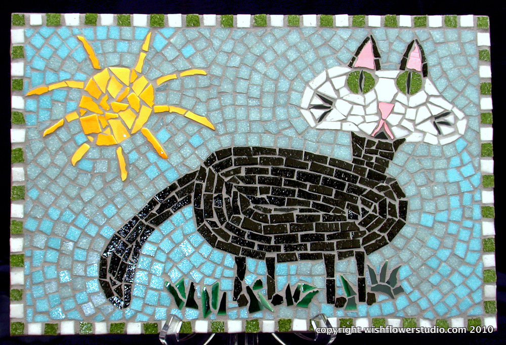 Cat – Mosaic made from a child's drawing