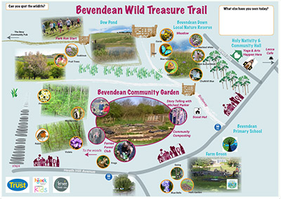 Bevendean Wild Treasure Trail - 28th AprilWe teamed up with Hijack Komedia Kids Festival & storyteller Michael Parker to create the 'Bevendean Wild Treasure Trail'. This involved Forest club activities for local families and supported local conservation efforts by highlighting the natural treasures in Bevendean's green spaces..