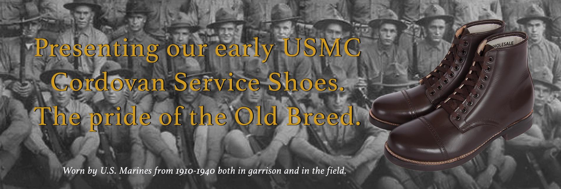 U.S. Marine Cordovan Low Boots.