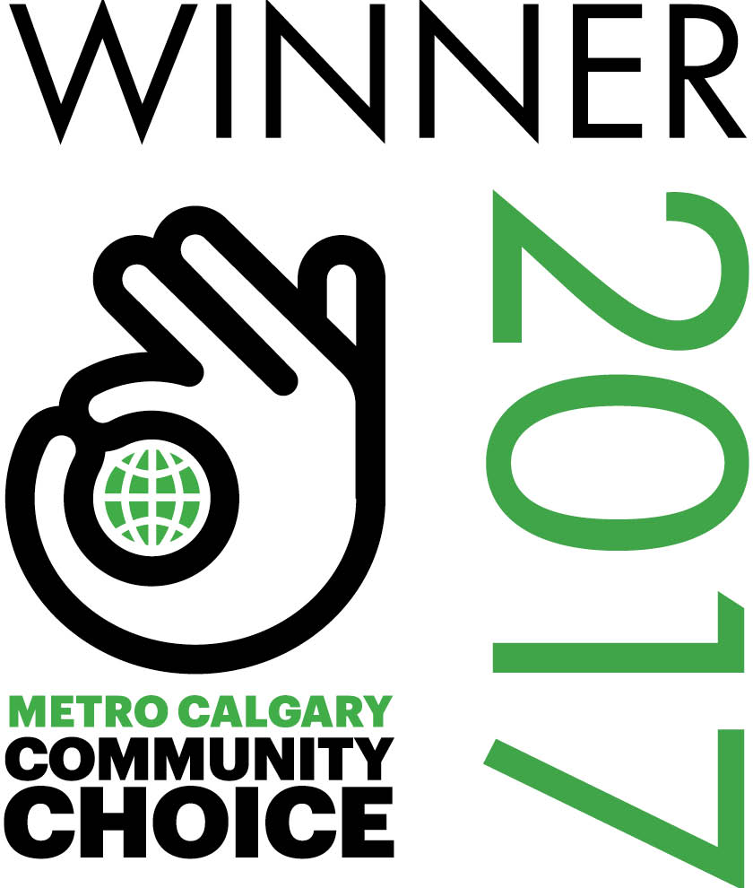 1st place for Bridal in Calgary's Community Choice Awards for Best Bridal Shop