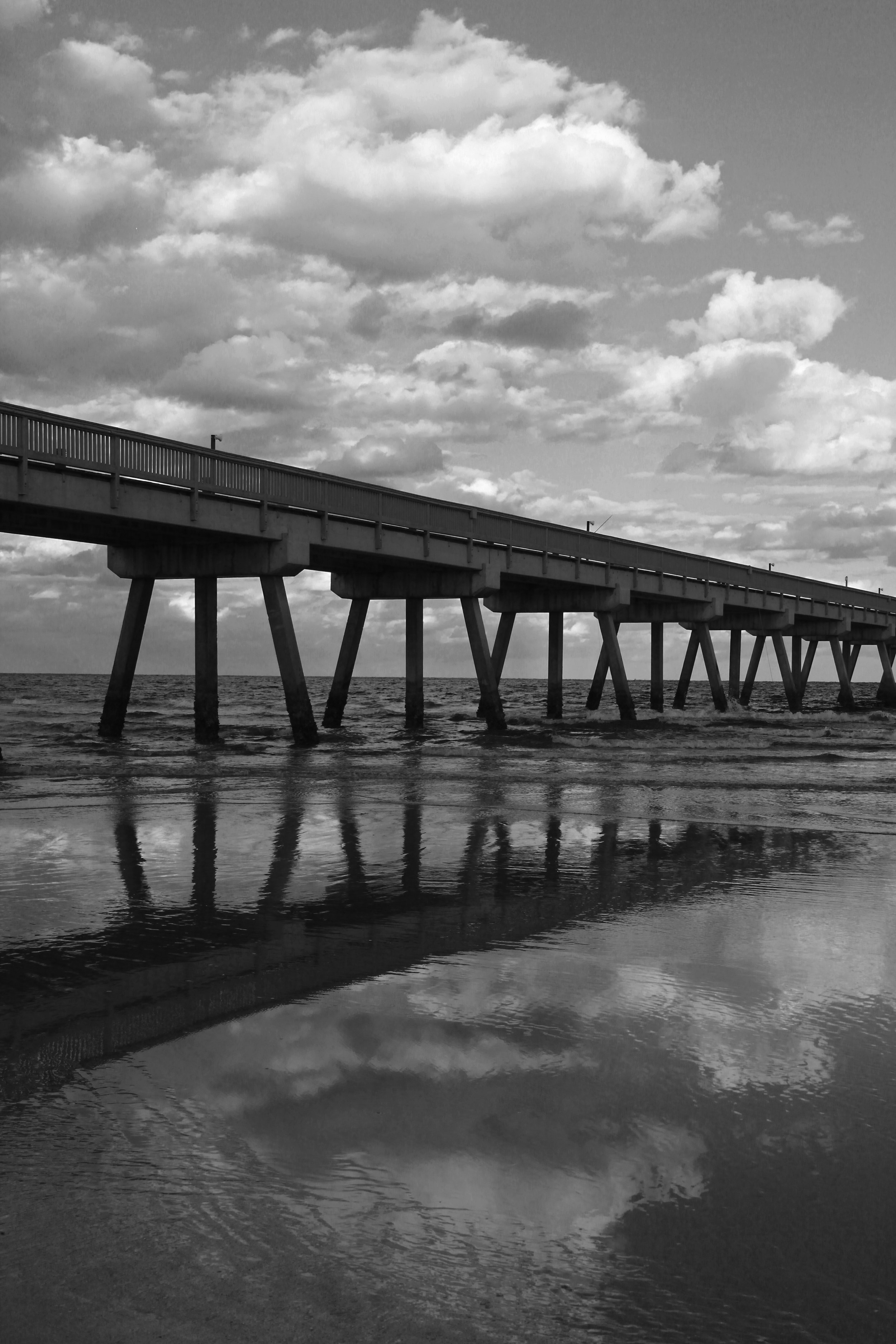 45 Pier & Clouds Reflected BW 0684.jpg