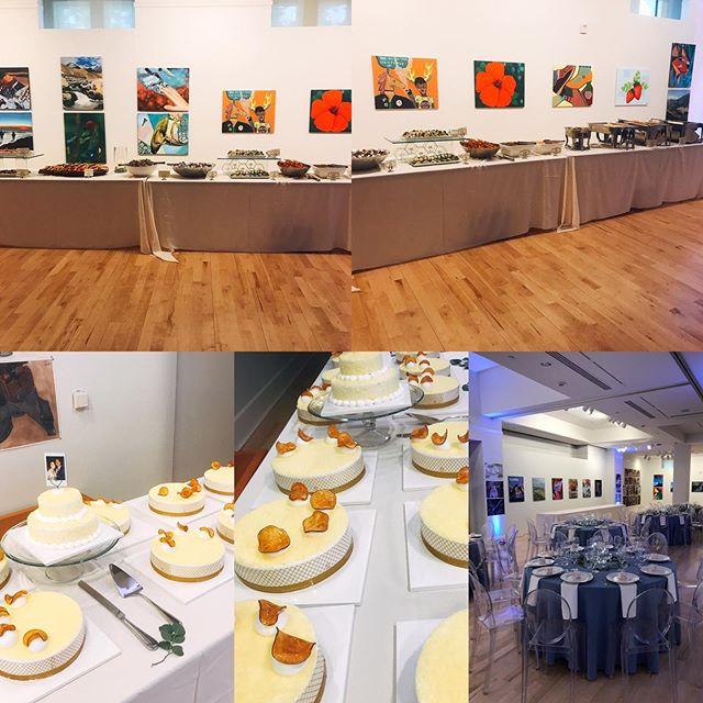 Art exhibit with food @ Soka University of America #Aliso Viejo #wedding-venue#Chinese tea-ceremony#Korean-catering#sweetyamcake#ghost chairs