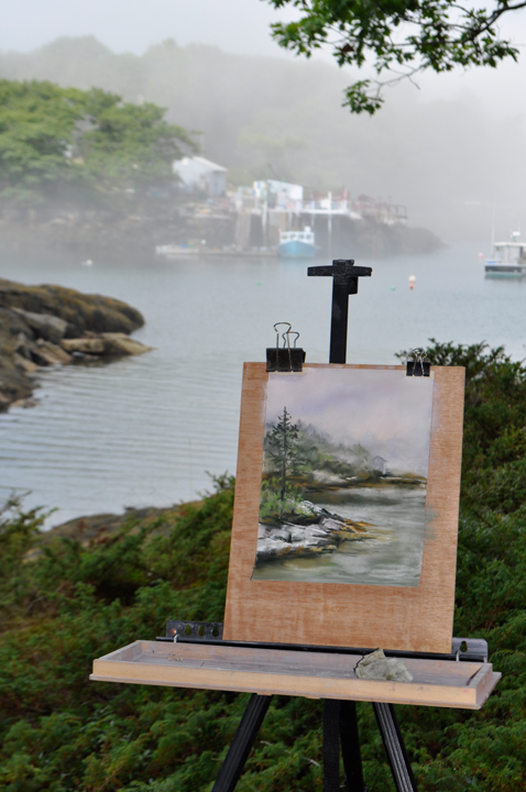 Plein Aire Painting in Five Islands