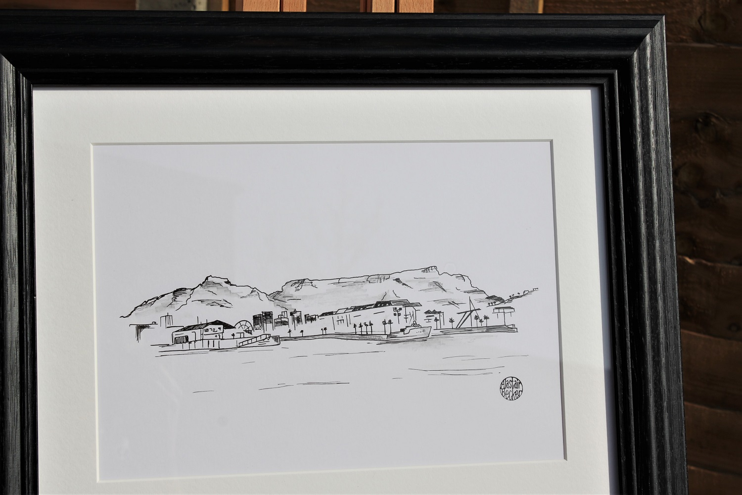Table Mountain - 3 of 5 commissioned artworks for a couple to remember their travels around the world.