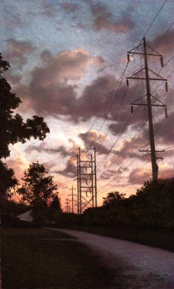 Electric Sunset -  pastel