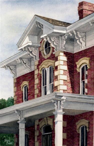 Flynn Mansion - watercolor