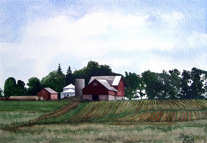 Homer's Place  -  watercolor