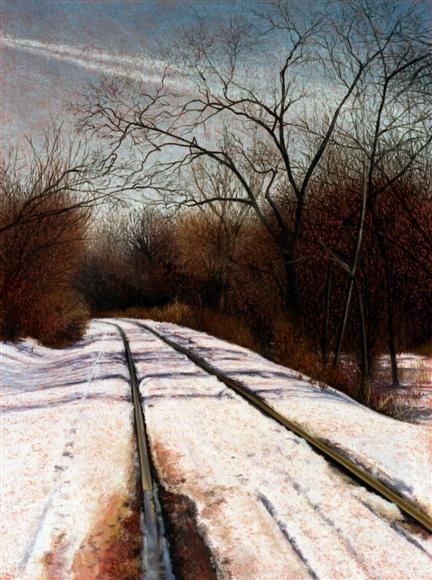 Tracks and Trail - pastel