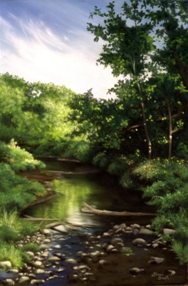 Walnut Creek - pastel