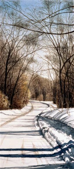 Winter Passage - watercolor