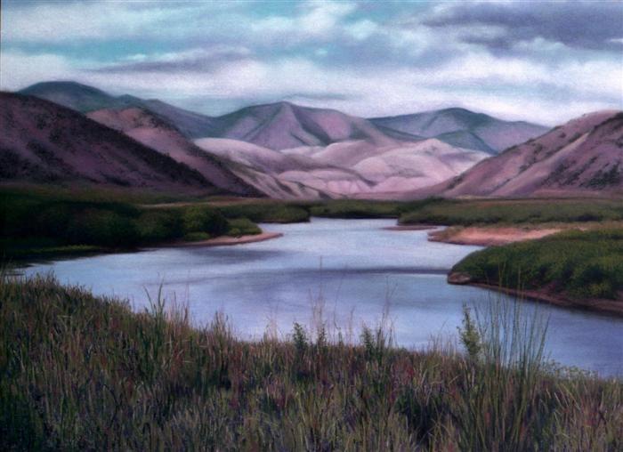 Mountain's Majesty, Colorado - pastel