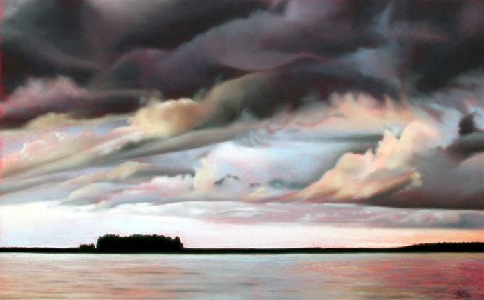 Vermillion Sky, Minnesota - pastel