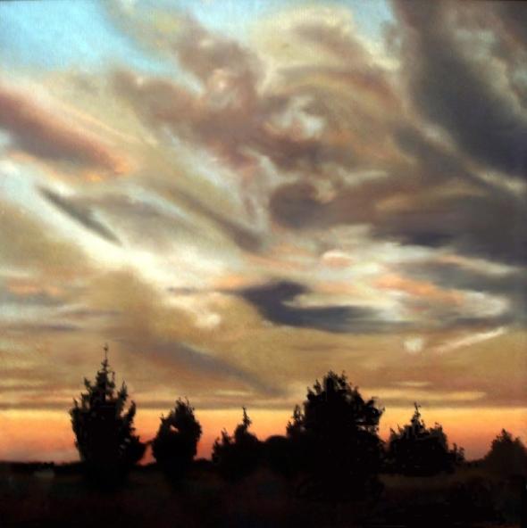 African Sunset - pastel