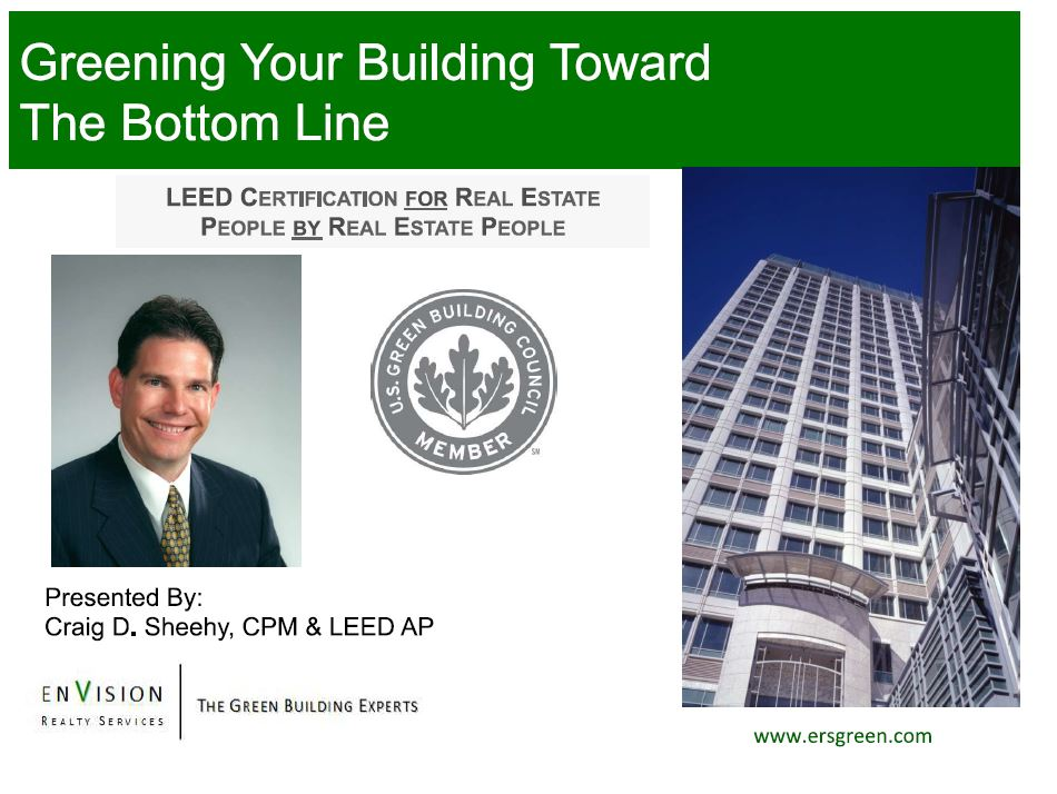 LEED Online, LEEDOnine, USGBC, Green Savings, Certified Property Manager, LEED AP, LEEDUser,