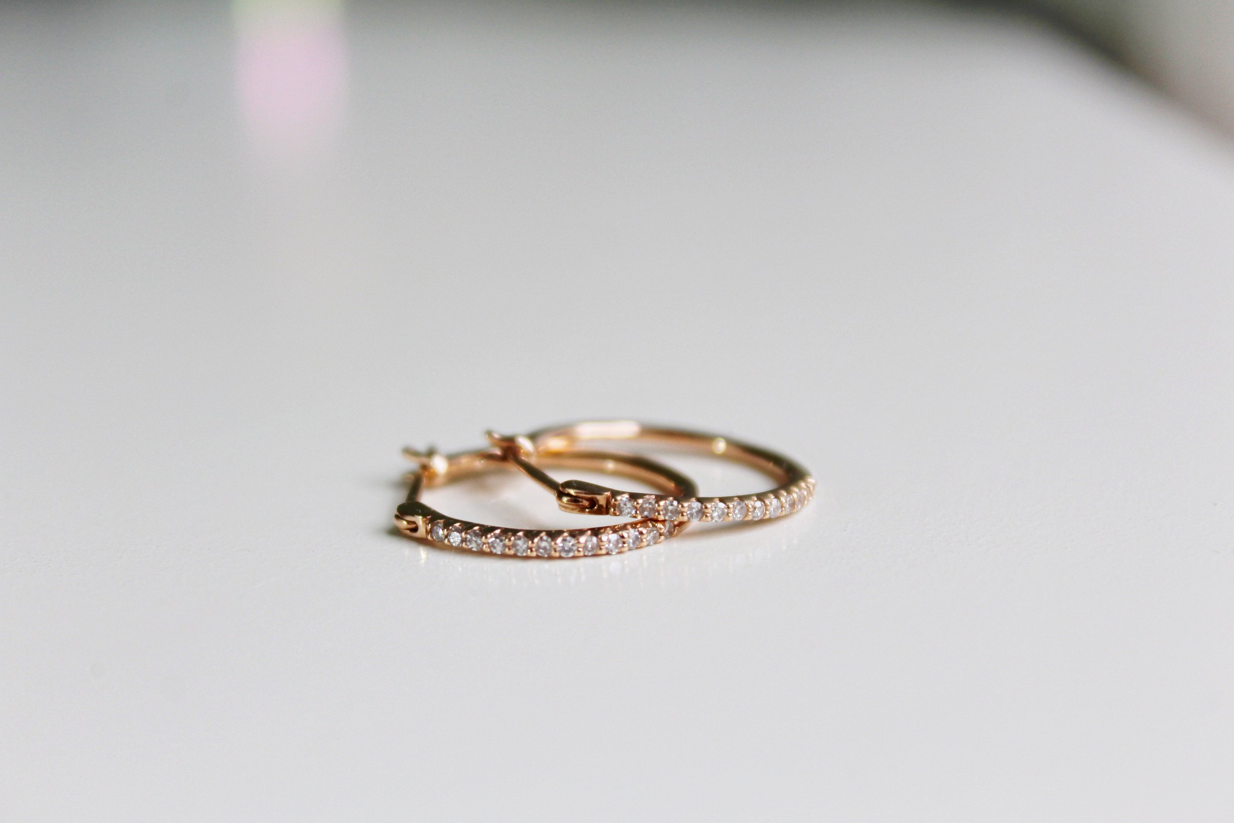 rose gold diamond hoops 2 .JPG