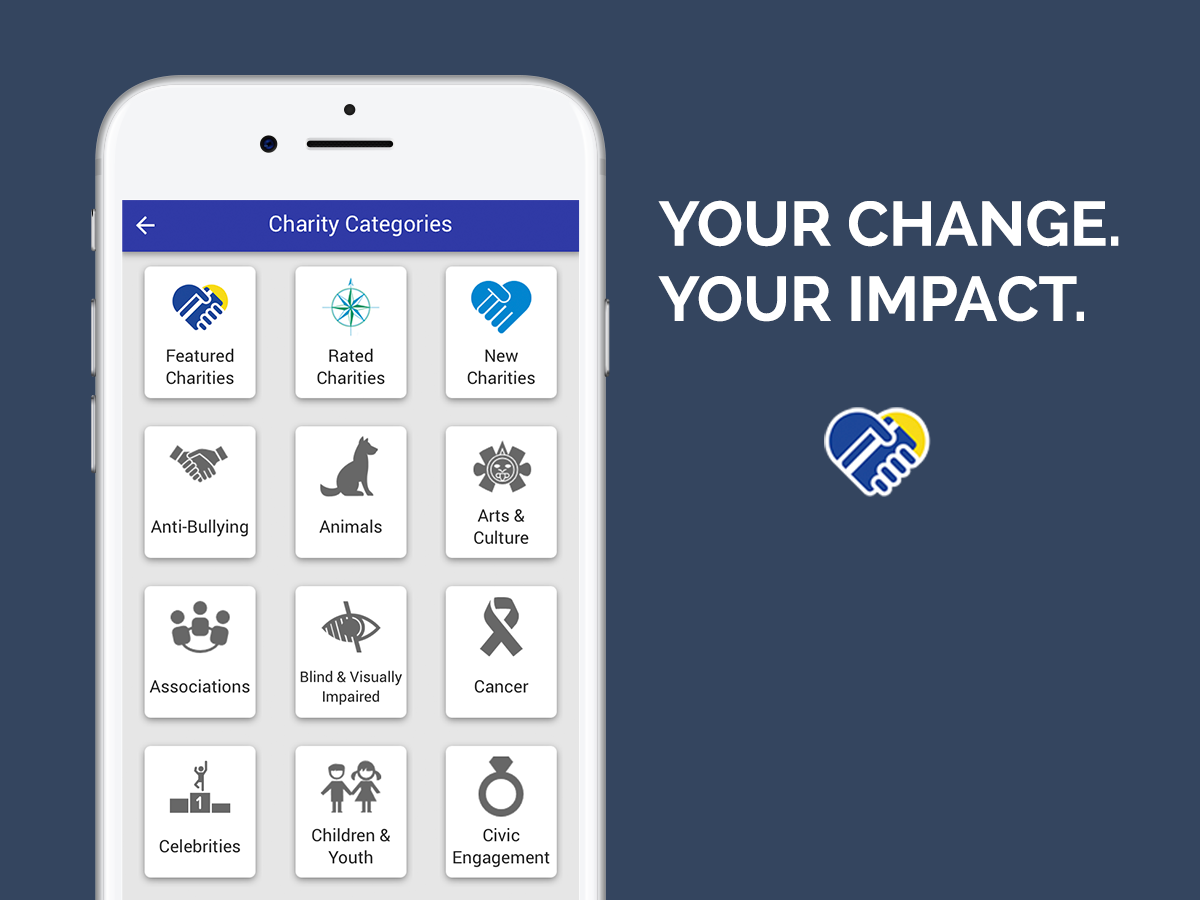 Get the app and start giving! -