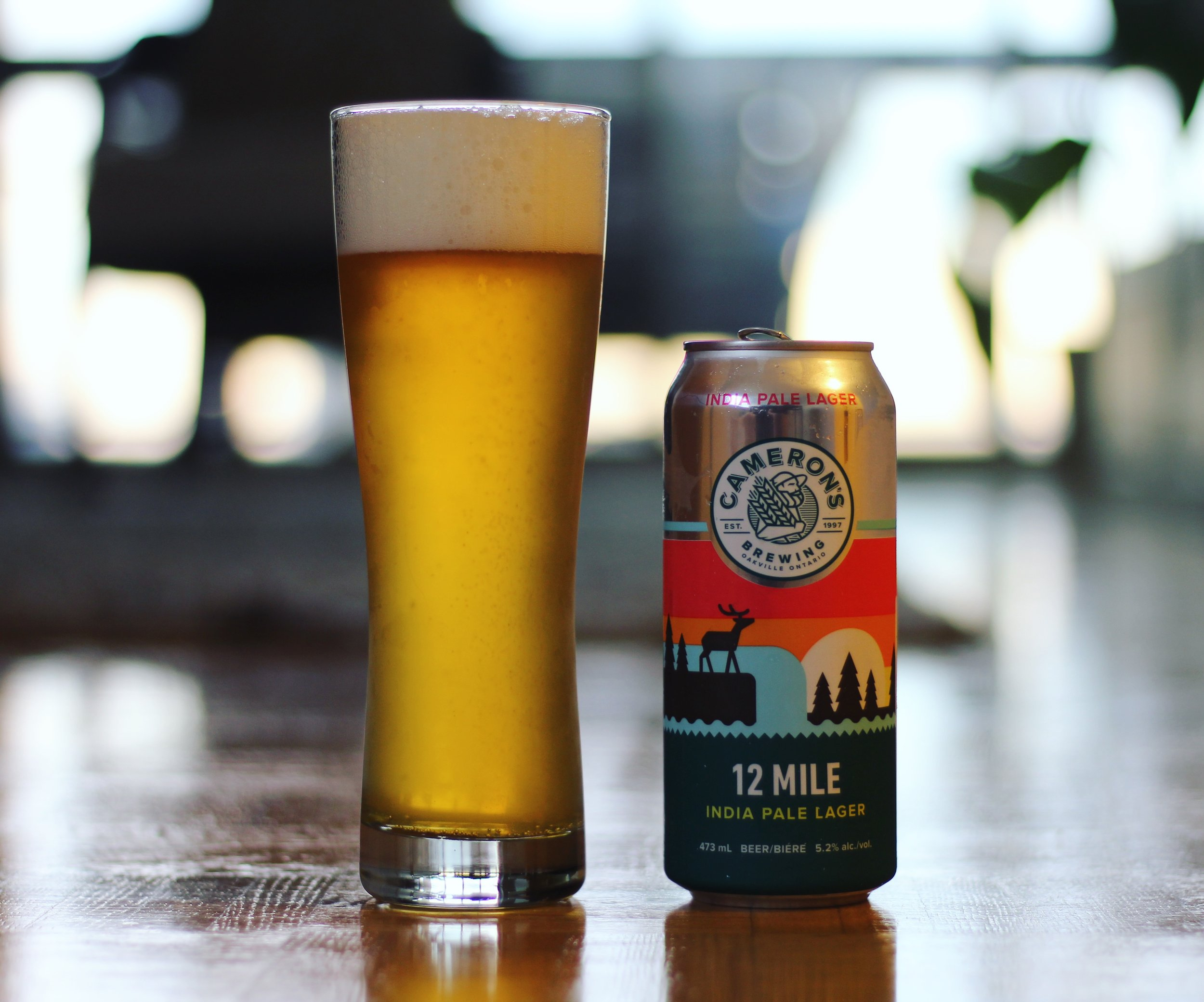 12 Mile India Pale Lager from the fantastic core lineup of  Cameron's Brewing  (Oakville, ON).