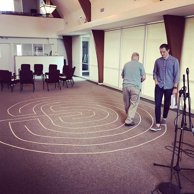This morning we explored Holy Saturday through spiritual practices: Walking the labyrinth, Levito Divina, Visio Divina, meditation, and playing with animal toys 🌀