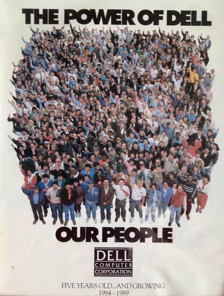 Dell's Austin team, 1989.