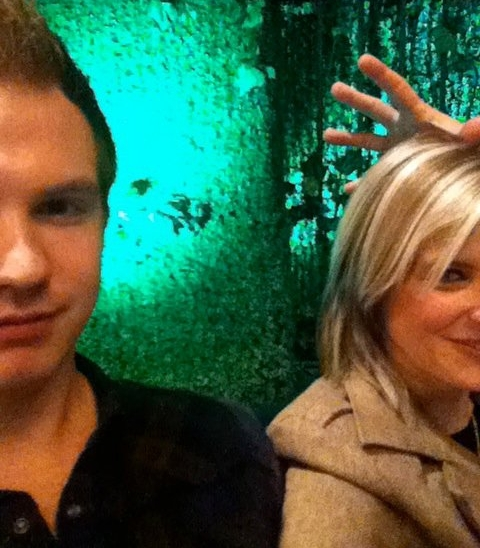 Melanie and I getting ready for our panel presentation at Canadian Music Week in 2011