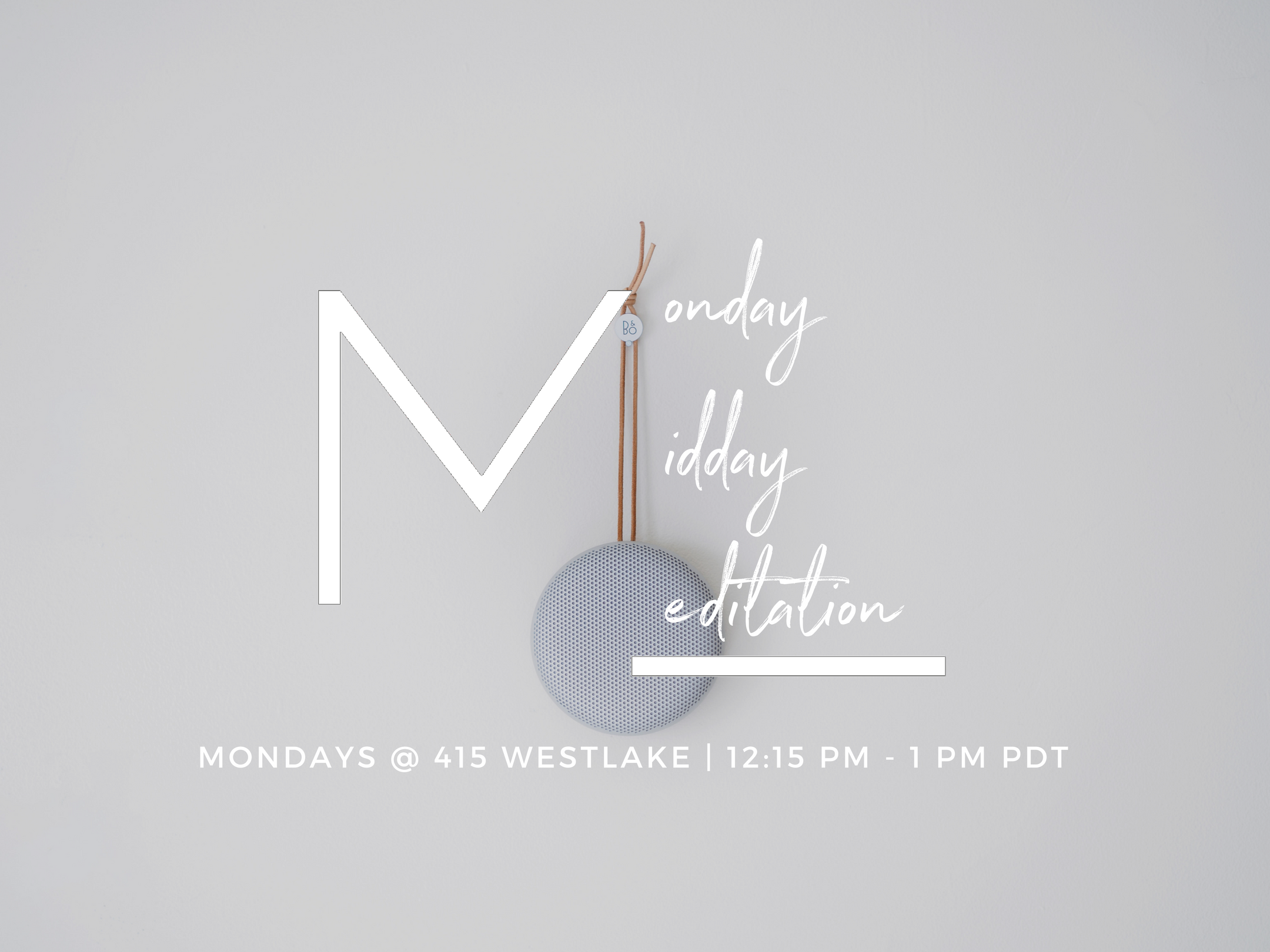Amp up your week with modern meditation experts, Tay & Val, as you focus, fuel, and flow with Monday Midday Meditations at the beautiful 415 Westlake venue.  Your midday begins with a mindful tuning in practice to connect deeper within. This is followed by a guided meditation practice that leaves you focused on what matters (super helpful for the overwhelmed), fueled up for the week (especially if you're feeling meh), and in the state of flow (so you get to do your best work in the week ahead).  Leave your hurries and worries at the door and come sit with us. Center your mind, nourish your body, and connect within (+ with a like-vibed community).  TIMELINE OF EVENTS  12 noon: Doors Open 12:15 pm - 12:45 pm: Guided Meditation 12:45 pm - 1 pm: Q&A Discussion  SIT WITH US // All are welcomed  Whether you're a first-timer curious about meditation or a seasoned meditator looking to cultivate your practice -- no matter what your previous meditation experience is -- you're welcomed to sit with us. Bring a colleague or friend, and multiply the FUN!   (yes, we did just say FUN.)   Together, we'll also explore basics like:  How to sit and settle in  How to tune in and tune out  How to weave a steady practice into your unique (and sometimes out of control) schedule   Register for guaranteed seating. Drop-ins welcomed, too.  SIT FOR GOOD // Mary's Place  Mary's Place is a local nonprofit organization that empowers homeless women, children & families to reclaim their lives. For this event 33% of each ticket will be donated to Mary's Place to provide respite, nutrition, safety and shelter through its six Family Shelters with more than 400 beds, and two Family Centers that provide housing and employment services.  CO-CREATED @ 415 Westlake  415 Westlake is a distinctive northwest venue with high ceilings, large open space without posts, and high quality sound and video systmes for music, receptions, corporate and cultural events. Every Monday evening, the venue is transformed into