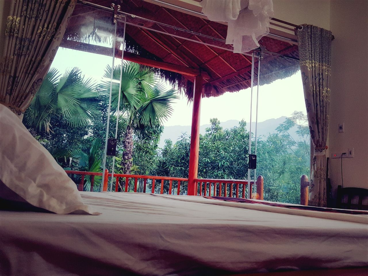 View from the bungalow bedroom.