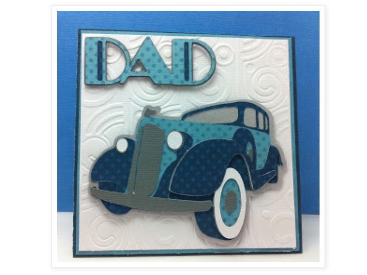 Dad Crciut Card Art Deco