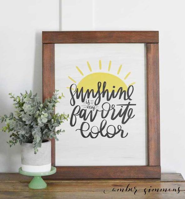 Cricut Summer Project Sunshine Wood Sign