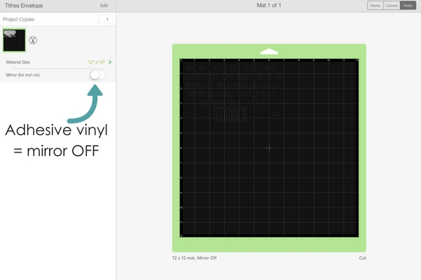 Getting started with vinyl- preview cut screen
