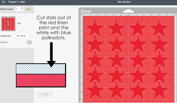 USA Cricut Banner- Cricut Star Garland