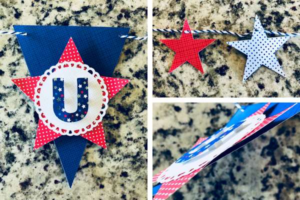 USA Banner-Cricut and Doodlebug