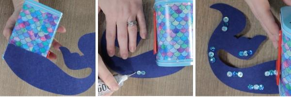 DIY Mermaid Valentines + Box | DIY Valentine Box | DIY Valentine Craft | DIY Valentines | DIY Mermaid Valentines | How to Make Valentines box using the Cricut Maker | #cricut #valentines #mermaid