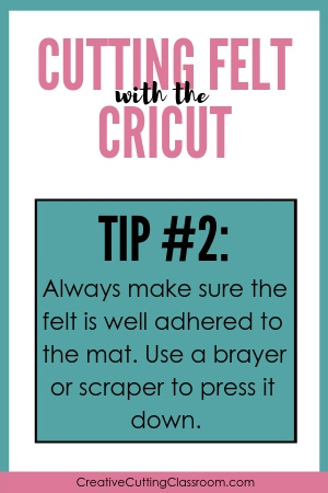 Cutting Felt with a Cricut Explore and Cricut Maker Tip #2