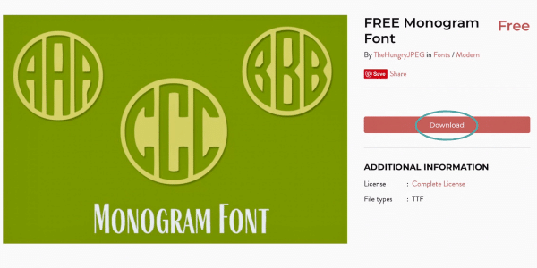 Monogram Font from Hungry JPEG