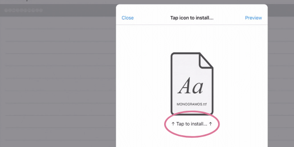 Using AnyFont to install fonts to the Ipad for Cricut Design Space