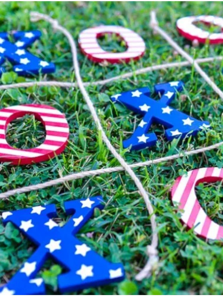 Patriotic Cricut Projects for Fourth of July: Tic Tac Toe