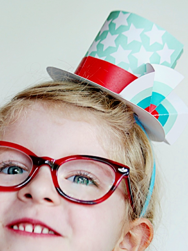 Patriotic Cricut Projects for Fourth of July: Uncle Sam Top Hat