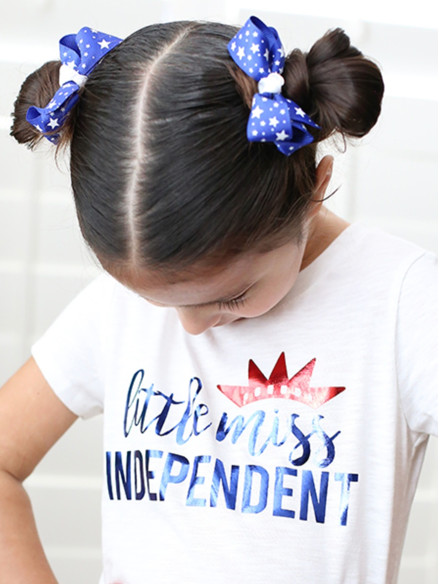 Patriotic Cricut Projects for Fourth of July: Little Miss Independent shirt