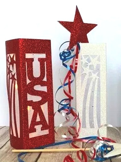 Patriotic Cricut Projects for Fourth of July: Decor