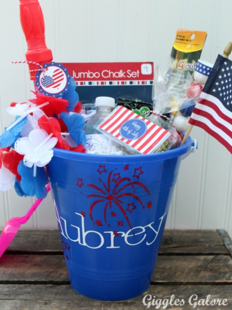 Patriotic Cricut Projects for Fourth of July: Celebration Bucket