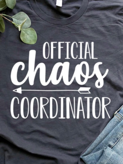Back to School Cricut Project: Chaos Coordinator shirt by I Should Be Mopping the Floor