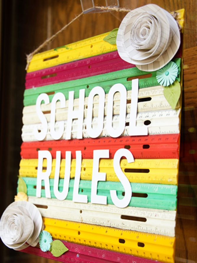 Back to School Cricut Project: Ruler decor by Natalie Wright