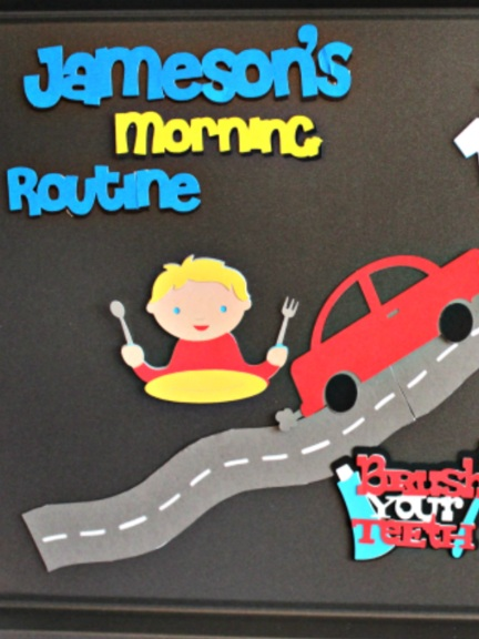 Back to School Cricut Project: morning routine board by Cmon Get Crafty