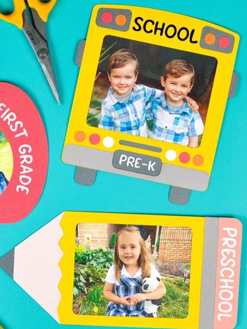 Back to School Cricut Project: photo frames by Hey Lets Make Stuff