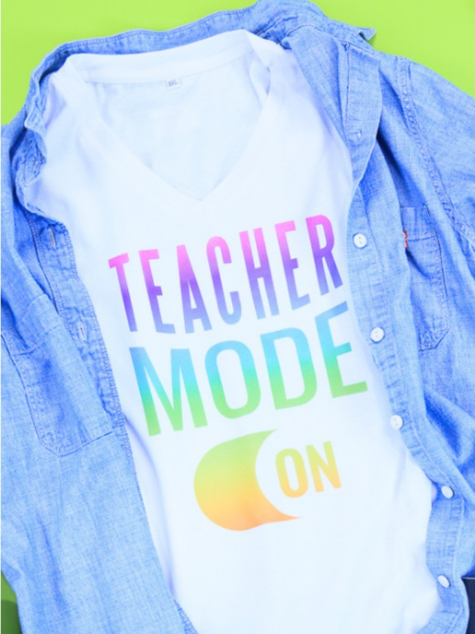 Back to School Cricut Project: Teacher mode shirt by The Celebration Shoppe