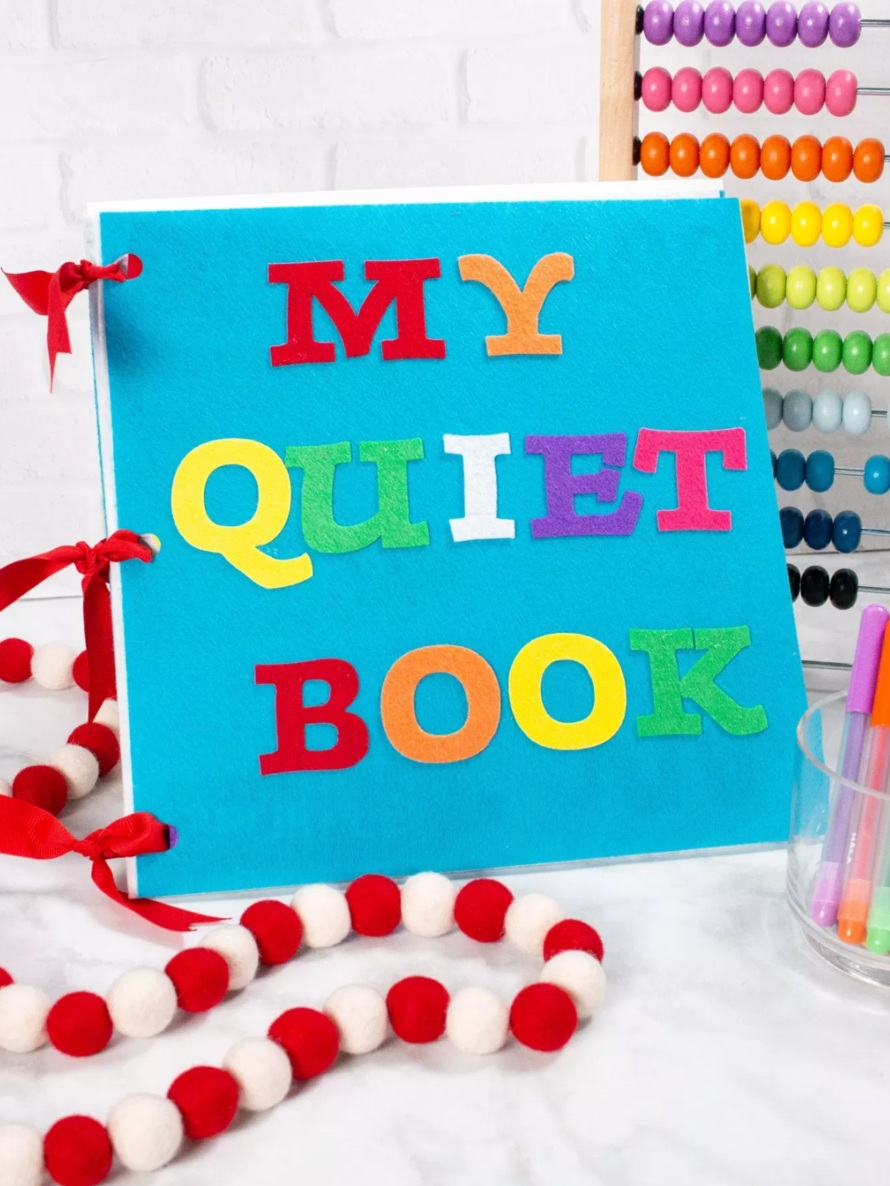 Back to School Cricut Project: Felt quiet book by Sweet Red Poppy