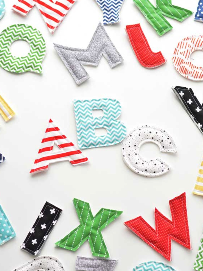 Back to School Cricut Project: fabric alphabet letters by Amber Simmons
