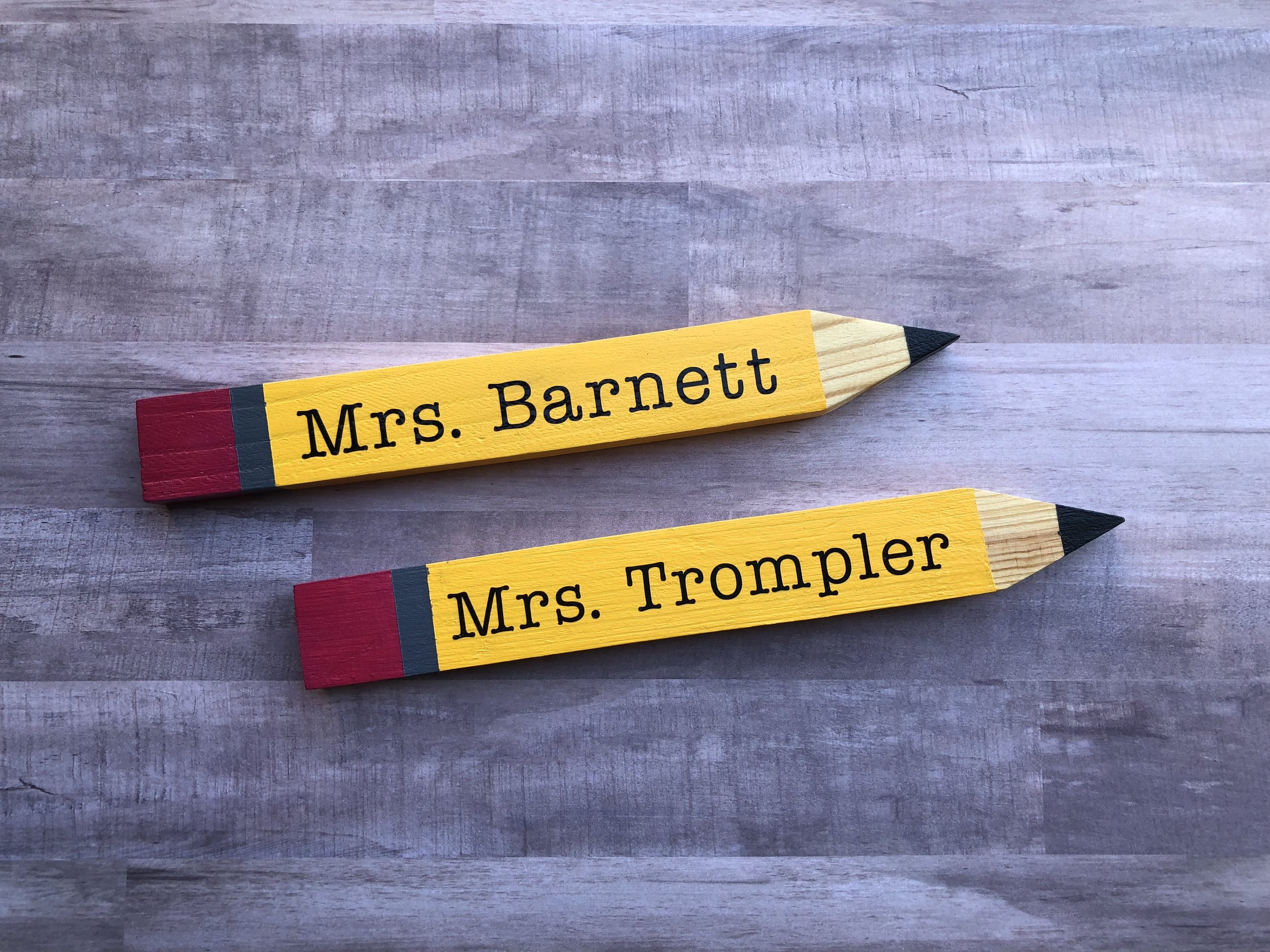 Back to School Cricut Project: Personalized Wooden Teacher Pencils by Creative Cutting Classroom