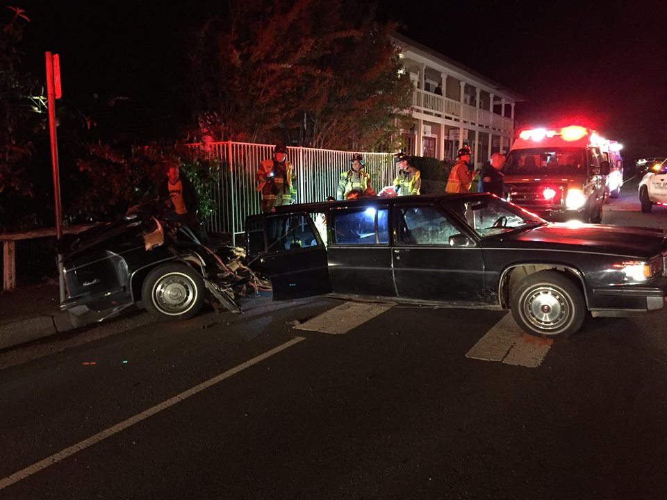 Vehicle Accidents:  Due to the possibile need for medical attention or extrication, Grass Valley Firefighters respond to all reported vehicle accidents in the city. We do so by sending a Battalion Chief, two engines, and a ambulance. The manpower provided by sending these resources allows crews to quickly assess the patient and extricate using the Jaws of Life is needed.