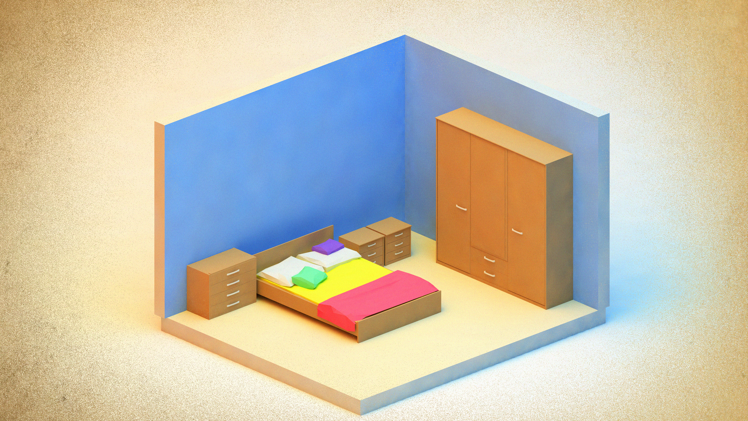 Bedroom w/ AR